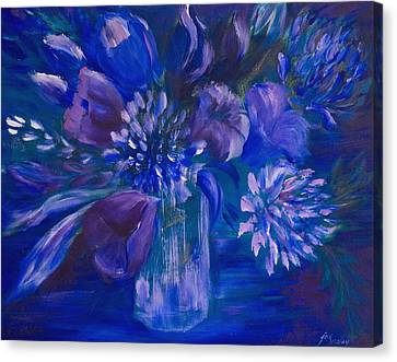 Blues To Brighten Your Day Canvas Print by Joanne Smoley