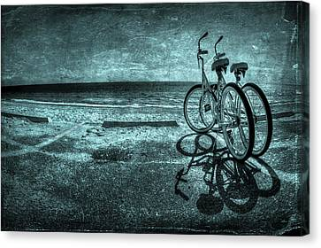 Bicycle Canvas Print - Bluescape by Evelina Kremsdorf