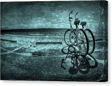 Bluescape Canvas Print by Evelina Kremsdorf