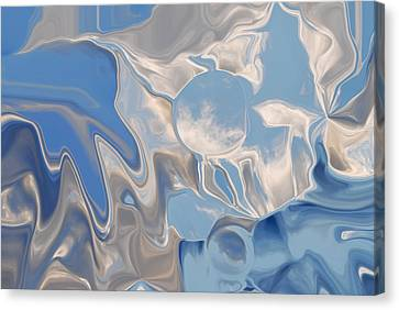 Bluesky Cloud Abstract Canvas Print by Michelle  BarlondSmith