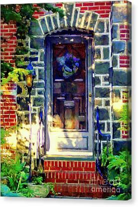 Bluestone Door Canvas Print by Janine Riley