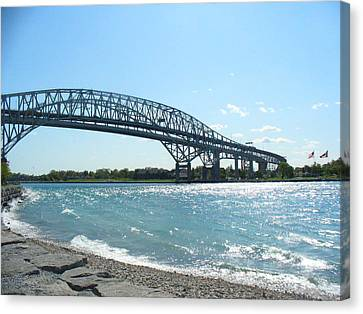 Bluewater Bridges Canvas Print