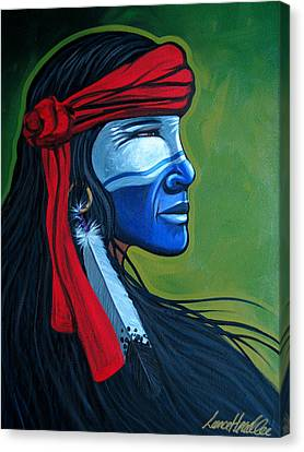 Bluface Canvas Print