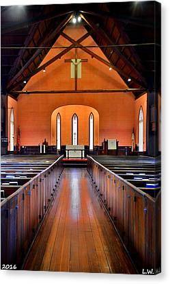 Churches Canvas Print - Bluffton Sc Church Of The Cross Sanctuary by Lisa Wooten