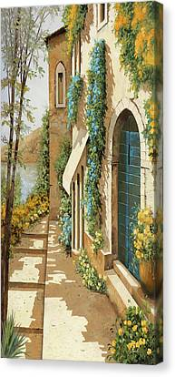 Blue Flowers Canvas Print - Blugialloblu by Guido Borelli