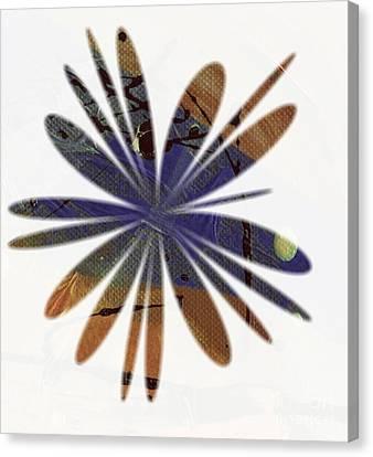 Bluish Brown Blossom Canvas Print