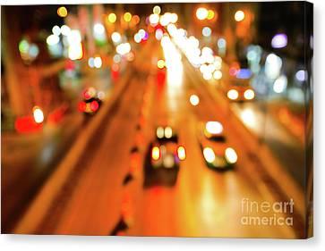 Blurred Of Car Canvas Print