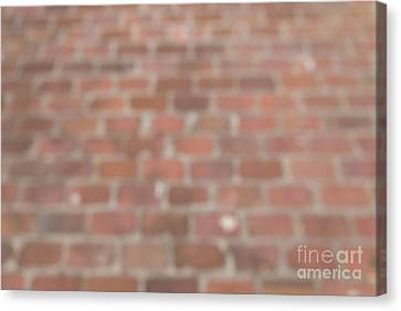 Canvas Print featuring the photograph Blurred Orange Brick Wall,floor Exterior,interior Pattern Design by Jingjits Photography