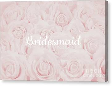 Maid Of Honor Canvas Print - Blush Pink Bridesmaid by Lucid Mood