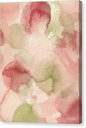 Blush Pink Green Persimmon Canvas Print by Beverly Brown