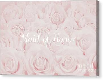 Maid Of Honor Canvas Print - Blush Pink Maid Of Honor by Lucid Mood