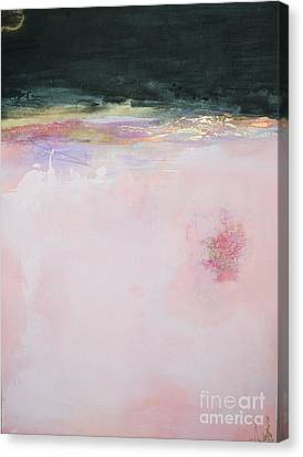 Blush Seduction Abstract Art Print Canvas Print by Anahi DeCanio