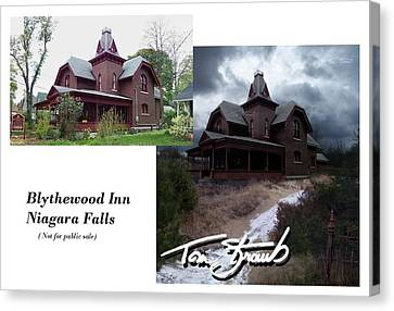 Blythewood Canvas Print - Blythewood Inn by Tom Straub