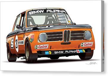 Bmw 2002 Alpina Illustration Canvas Print by Alain Jamar