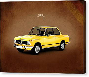 Bmw Canvas Print - Bmw 2002 by Mark Rogan
