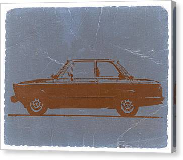 Bmw 2002 Orange Canvas Print