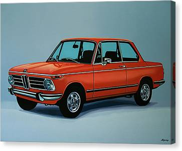 Bmw Vintage Cars Canvas Print - Bmw 2002 1968 Painting by Paul Meijering