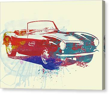 Bmw Vintage Cars Canvas Print - Bmw 507 by Naxart Studio