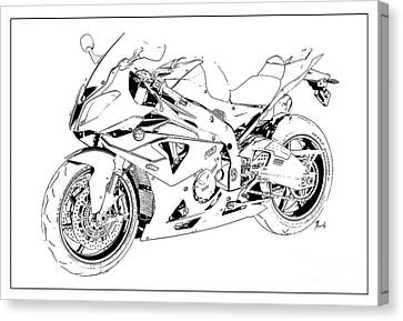 Bmw Classic Motorcycle, Gift For Bikers, Christmas Gift For Men Canvas Print by Pablo Franchi