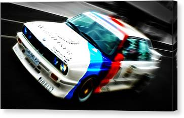 Bmw E30 M3 Racing Canvas Print by Phil 'motography' Clark