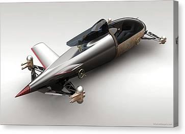 Bmw Hydrogen Salt Racer 3 Wide Canvas Print by F S
