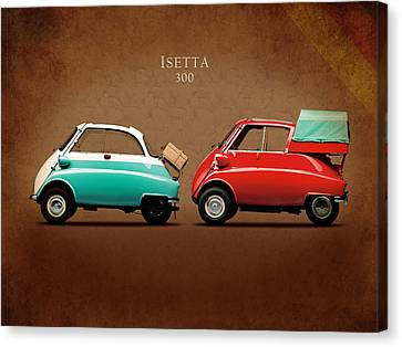 Bmw Vintage Cars Canvas Print - Bmw Isetta 300 by Mark Rogan
