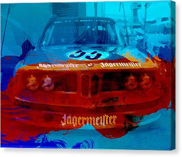 Bmw Vintage Cars Canvas Print - Bmw Jagermeister by Naxart Studio