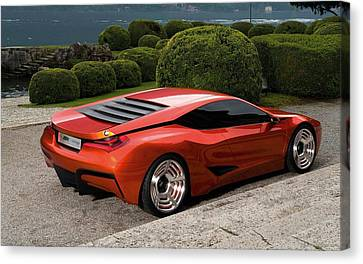 Bmw M1 Homage Concept 4 Wide Canvas Print by F S