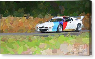 Bmw M1 Canvas Print by Roger Lighterness