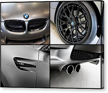 Canvas Print featuring the photograph Bmw M3 Collage by Aaron Berg