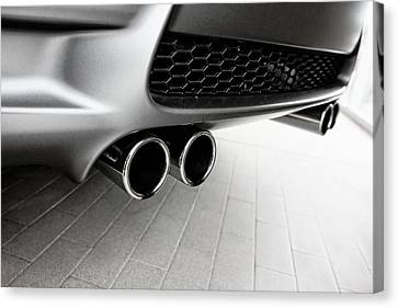 Canvas Print featuring the photograph Bmw M3 Exhaust  by Aaron Berg