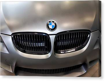 Canvas Print featuring the photograph Bmw M3 Hood by Aaron Berg