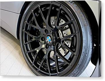 Canvas Print featuring the photograph Bmw M3 Wheel by Aaron Berg