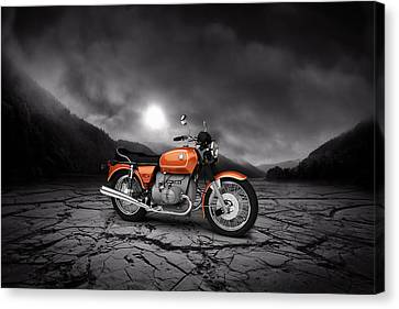 Bmw R90-6 1974 Mountains Canvas Print by Aged Pixel