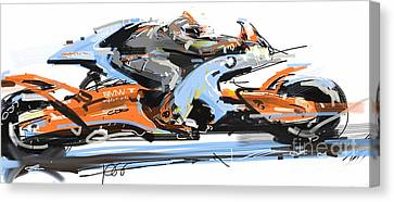 Bmw Racer 2 Canvas Print by Peter Fogg