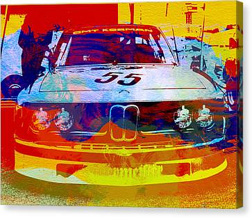 Bmw Vintage Cars Canvas Print - Bmw Racing by Naxart Studio