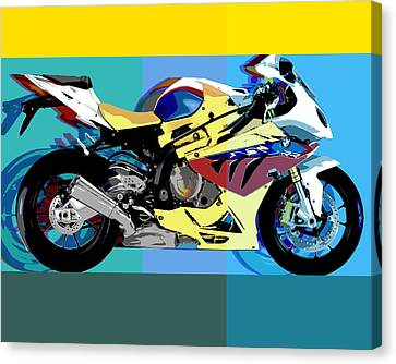 Bmw-s1000rr Canvas Print by Barry Shereshevsky