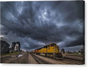 Bnsf Storm Canvas Print by Darren  White