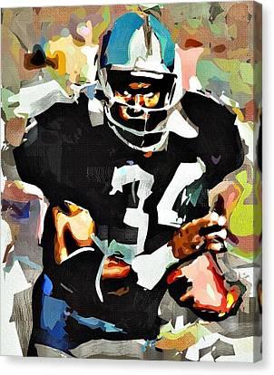 Bo Jackson Canvas Print by Bob Smerecki