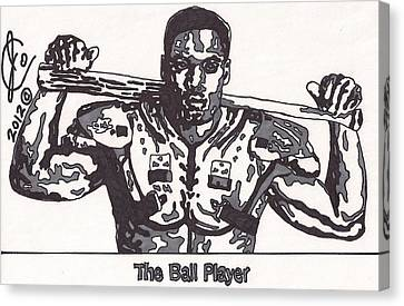 Bo Jackson The Ball Player Canvas Print by Jeremiah Colley
