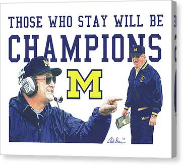 Bo Schembechler Canvas Print by Chris Brown