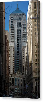 Board Of Trade Chicago Morn Canvas Print by Steve Gadomski