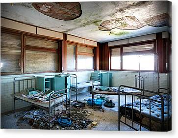 Boarding School Nightmare - Abandoned Building Canvas Print by Dirk Ercken