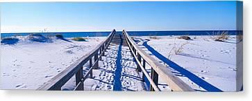 Boardwalk At Santa Rosa Island Canvas Print by Panoramic Images