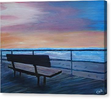 Boardwalk At Sunrise Canvas Print