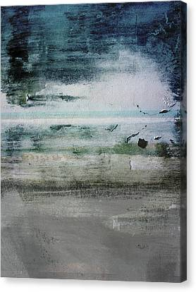 Boardwalk Blues 2- Art By Linda Woods Canvas Print
