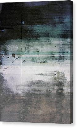Contemporary Abstract Canvas Print - Boardwalk Blues- Art By Linda Woods by Linda Woods
