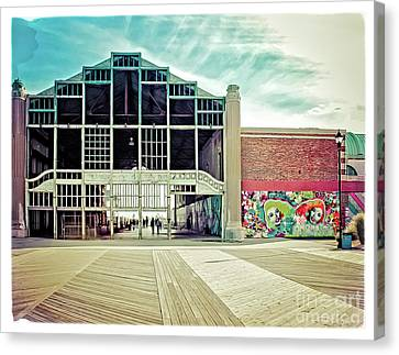 Canvas Print featuring the photograph Boardwalk Casino - Asbury Park by Colleen Kammerer