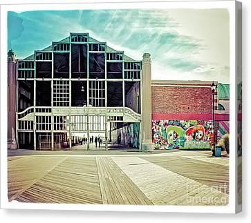 Asbury Park Casino Canvas Print - Boardwalk Casino - Asbury Park by Colleen Kammerer