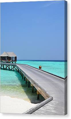 Boardwalk In Paradise Canvas Print by Corinne Rhode